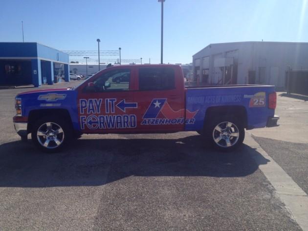 Atzenhoffer Chevy Pay it Forward Truck