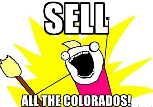 sell all the colorados