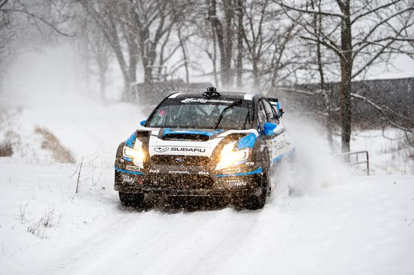 Subaru's David Higgins Crushes Competition at 2015 Rally in the 100 Acre Wood