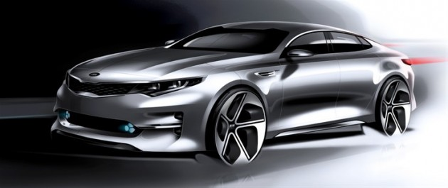 All-new 2016 Kia Optima teaser sketches