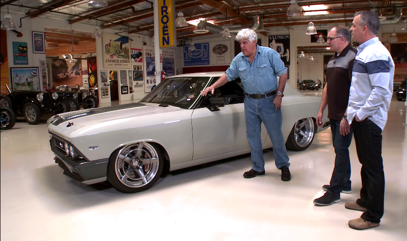 Jay Leno discusses the Chevelle with Ringbrothers James and Mike