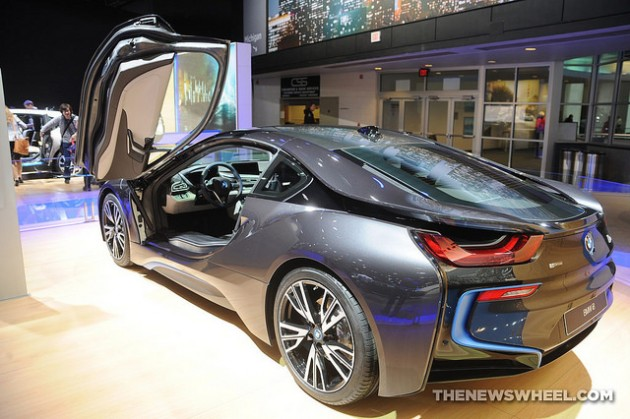 2014 BMW i8 at North American International Auto Show Detroit rear back open door