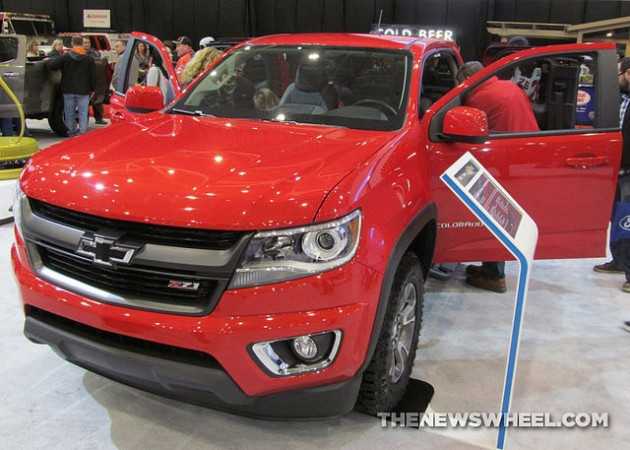 2015 Chevy Colorado Z71 Trail Boss Edition at Cleveland Auto Show front