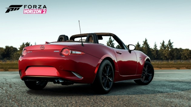 2016 Mazda MX-5 Miata Download car pack on Forza Horizon 2 for free rear red