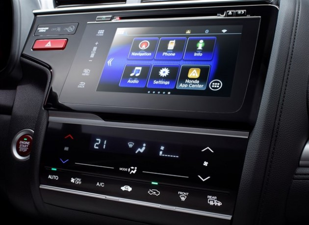 The Jazz hatchback's new seven-inch touchscreen
