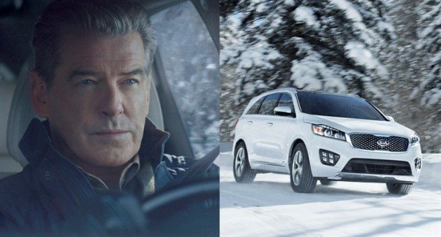 Pierce Brosnan starred in Kia's Super Bowl ad for the 2016 Sorento
