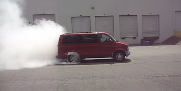 Chevy Astro burnout