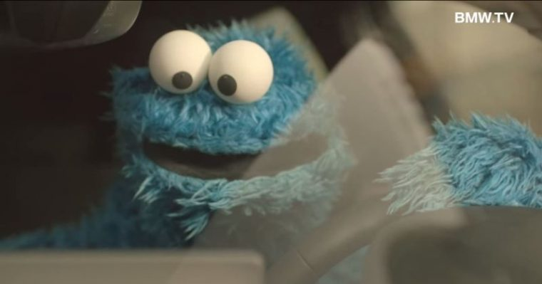 Cookie Monster Drives BMW 1 Series commercial concierge