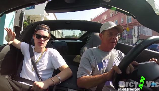 YouTube prankster Drey lets a homeless man drive his Corvette convertible