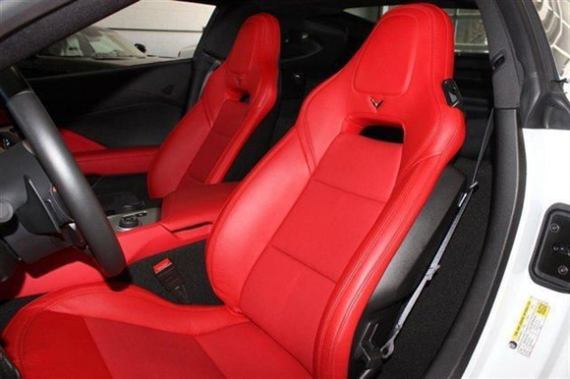 Get in the Cage: the Corvette's Adrenaline Red leather interior
