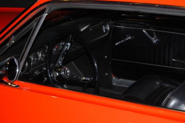 Ford 1964 1/2 Mustang orange red over black vinyl