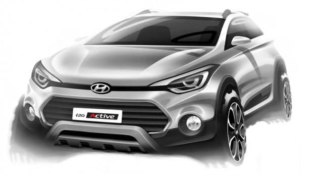 Hyundai i20 Active crossover design sketch front