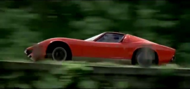 Lamborghini Miura from The Italian Job opening sequence orange