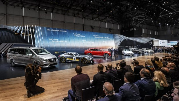 Mercedes at the 2015 Geneva Motor Show