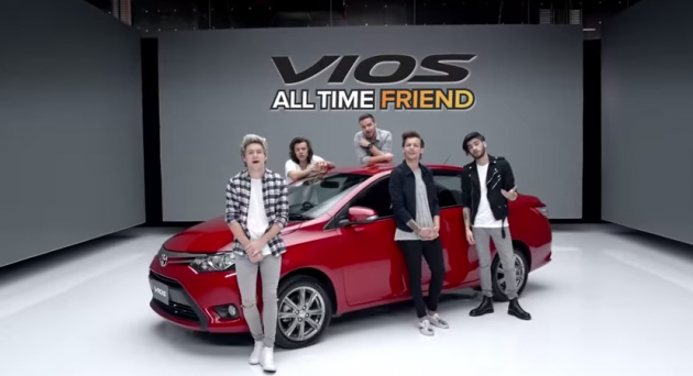One Direction Toyota commercial