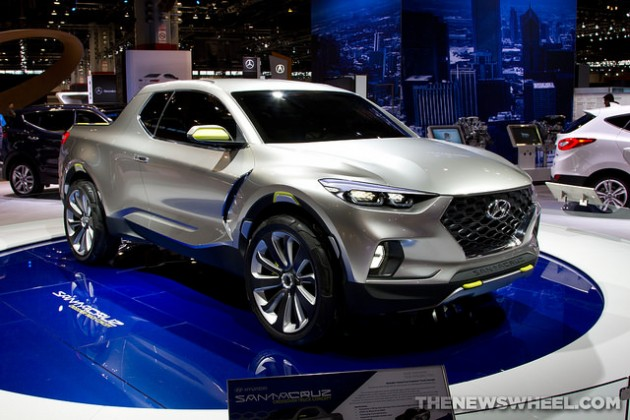 Hyundai Santa Cruz crossover at the 2015 Chicago Auto Show