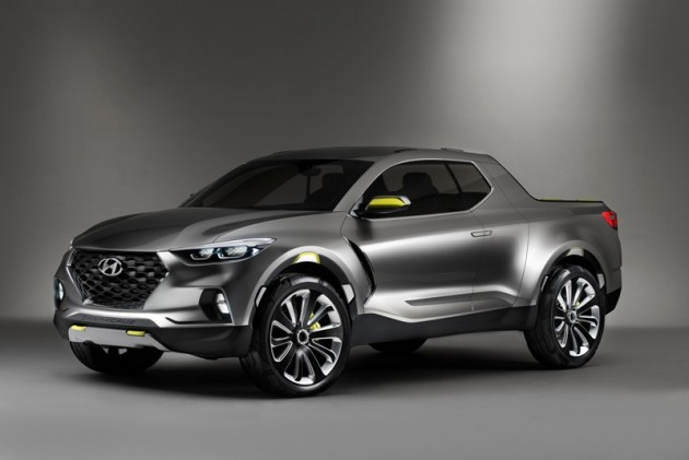 Santa Cruz Crossover SUV Truck Concept Front Exterior tied to Hyundai Alabama Plant Expansion