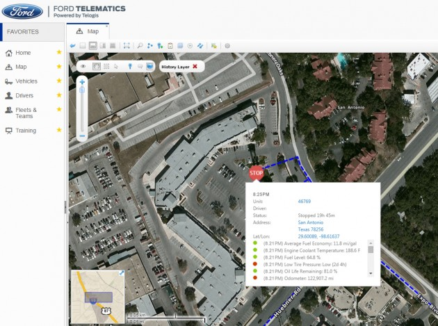 Ford Telematics Satellite View
