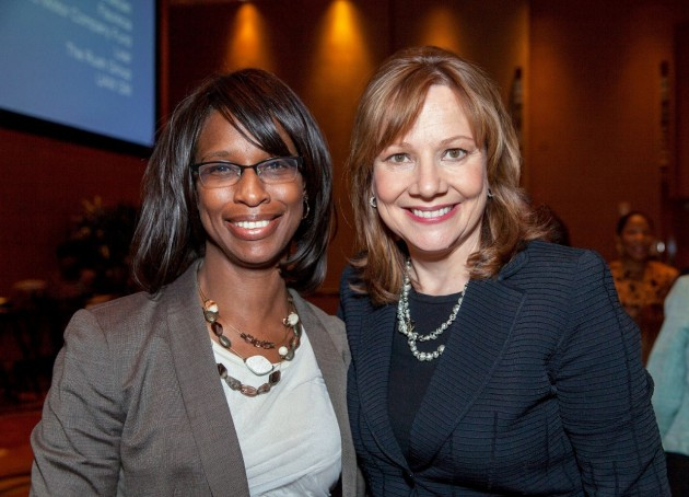 Senior Vice President Global Connected Customer Experience Alicia Boler-Davis and GM CEO Mary Barra