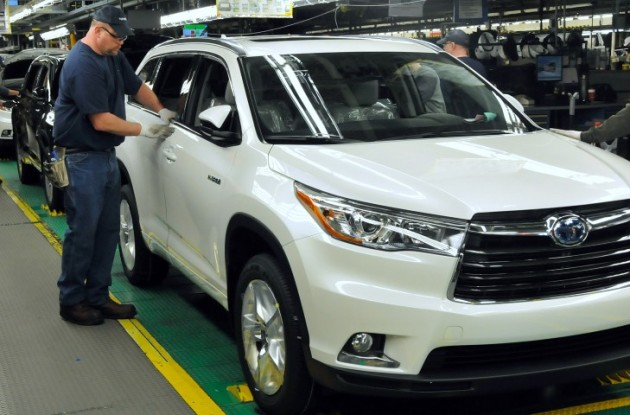 Toyota Indiana Produces 4 Millionth Vehicle