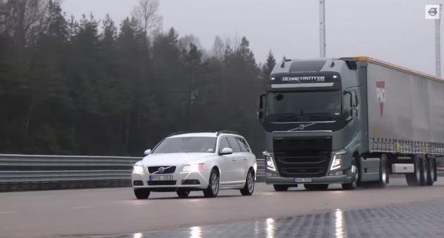 Volvo Trucks emergency braking
