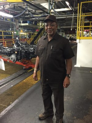 Auto worker Dave Holt, who has been at the Arlington Assembly plant for half a century