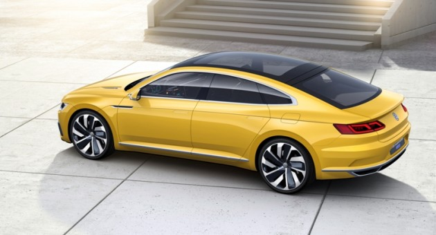 The four-door Sport Coupe in profile