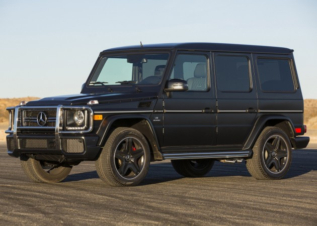 Pictured here is the 2013 Mercedes-AMG G63, as Mercedes still hasn't put out images of the upcoming 2016 Mercedes-AMG G65