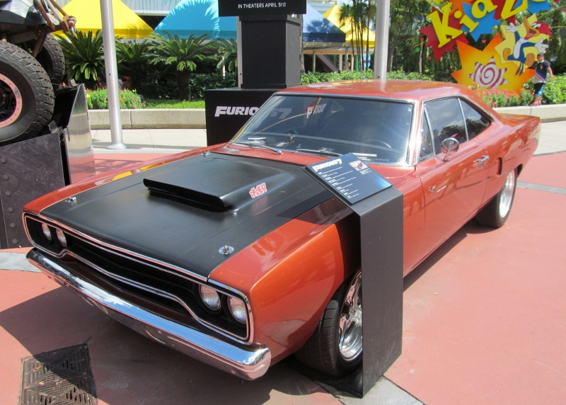 Cars From Furious On Display At Universal Studios Orlando
