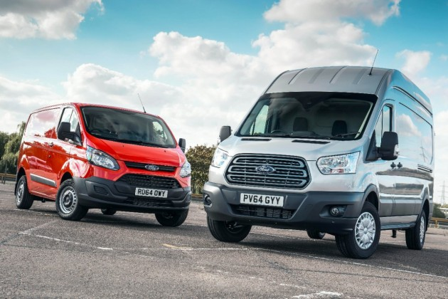 Ford Transit Custom and Ford Transit both winners at the 2015 Vans A2Z Awards