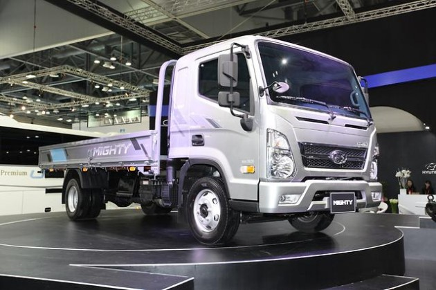Hyundai Mighty Truck at 2015 Seoul Motor Show