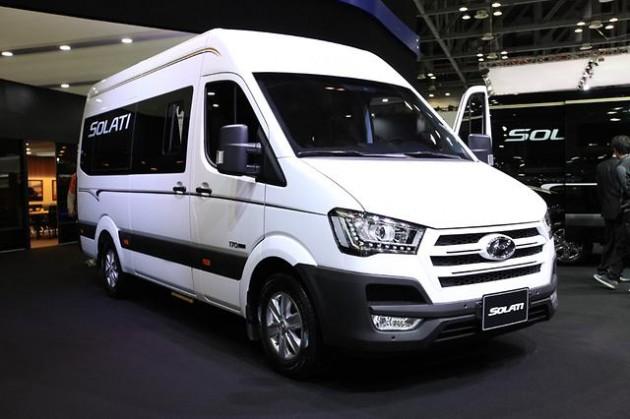 Hyundai Solati bus at 2015 Seoul Motor Show