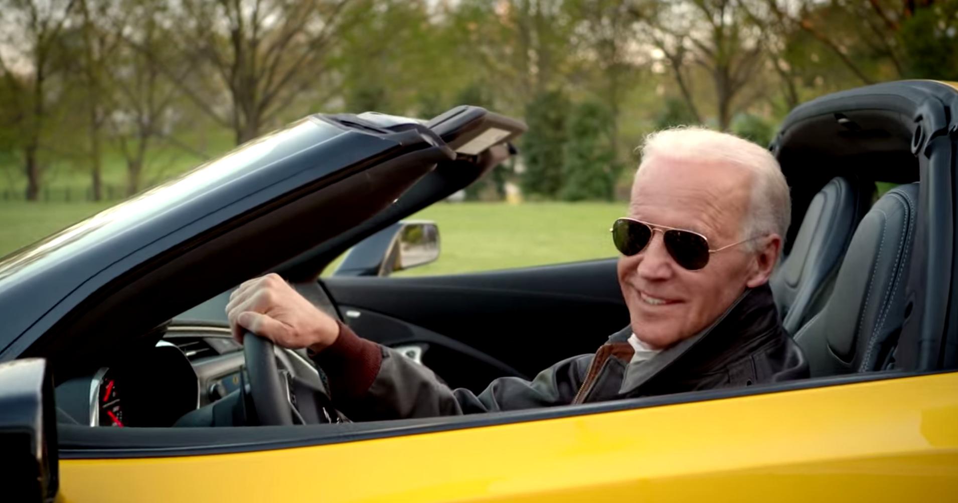 Joe Biden In A Yellow C7 Corvette Stingray The News Wheel
