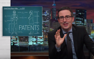 This Week Tonight host Jon Oliver talks patent trolls
