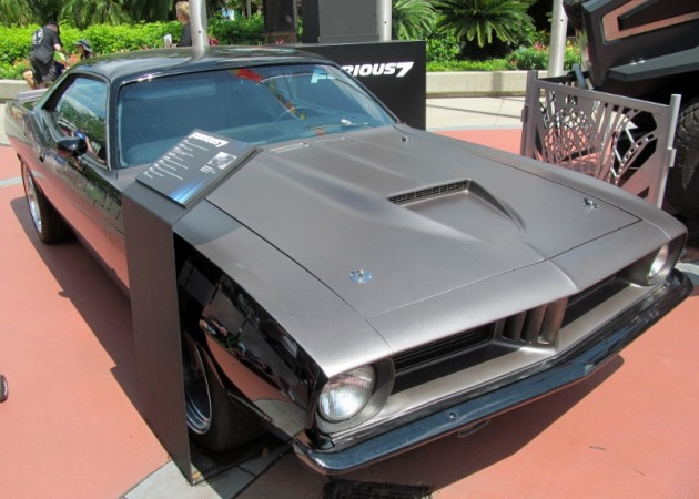 Letty 1970 Plymouth Barracuda Cuda black Fast and Furious 7 movie film car front