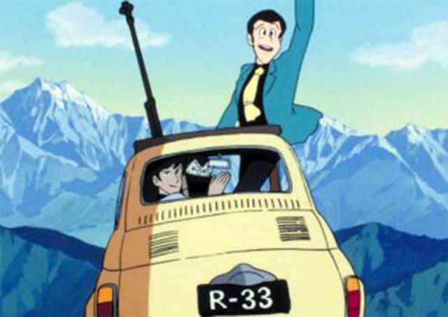 Lupin the Third's Iconic Yellow 1957 Fiat 500 Castle of Cagliostro Miyazaki