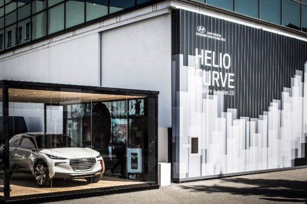 Milan Design Week 2015 Hyundai's Helio Curve Art Installation Intrado