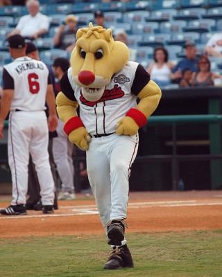 Nashville_Sounds_Mascot_Ozzie Hyundai partner for 2015 baseball season
