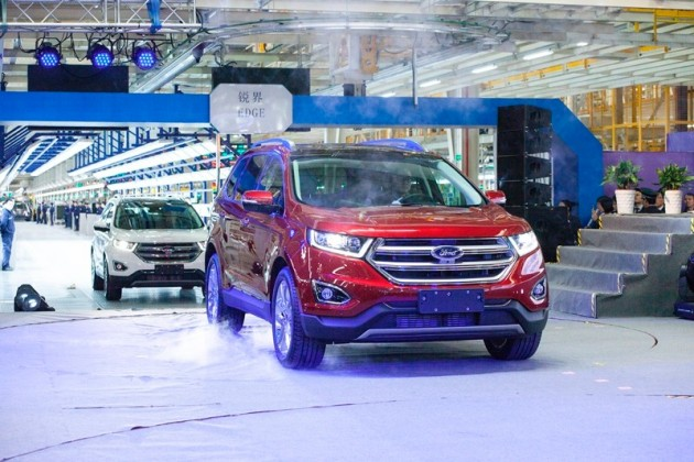 New Ford Edge, the first vehicle being manufactured at the Hangzhou plant