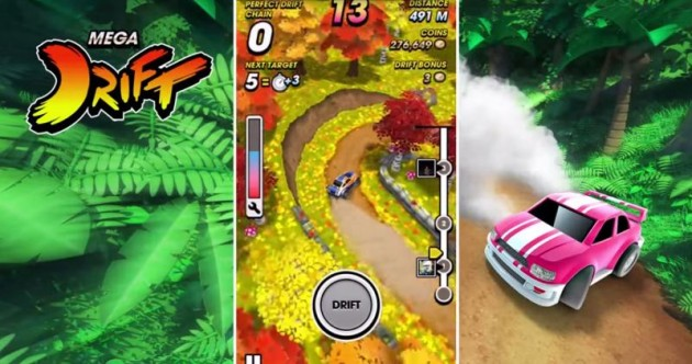 New Mega Drift iOS Game App Blackbeard racing game