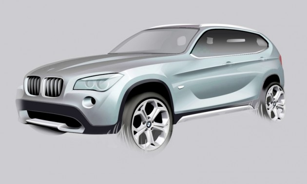 Original BMW X1 concept sketch, BMW plans Urban Cross compact