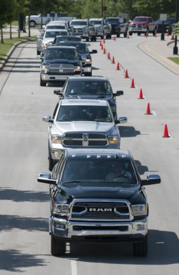 Ram Truck Round-Up was officially the longest parade of pickup trucks ever