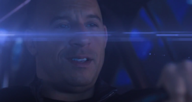 Vin Diesel drives a DeLorean in Fast to the Future