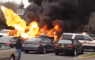 Long Island Man Blows Up Car in Supermarket Parking Lot