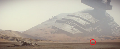 Still from Star Wars The Force Awakens trailer