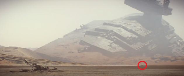 Still from Star Wars The Force Awakens trailer
