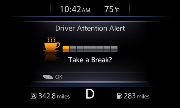 "Nissan's ""Driver Attention Alert"""