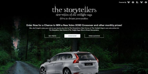 Win Volvo XC60 in Volvo's Voice of the Storytellers Twilight Car Sweepstakes