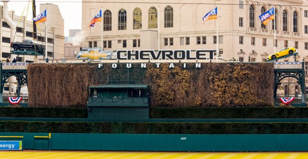 Chevrolet Fountain at Comerica Park in Detroit