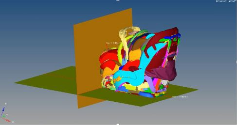 This big lump combines every scanned child safety seat into one analyzing how well they will fit into GM vehicles using computer simulations.